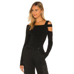 h:ours Milee Long Sleeve Top in Black
